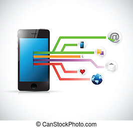 phone social media circuit diagram