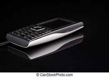 Phone - Black mobile on the black background
