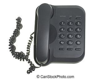 Phone - black phone isolated on white background including...