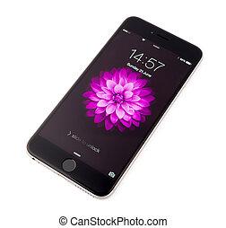 Phone - UFA, RUSSIA - JUNE 21, 2015: New iPhone 6 Plus is a...