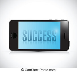 phone success illustration design