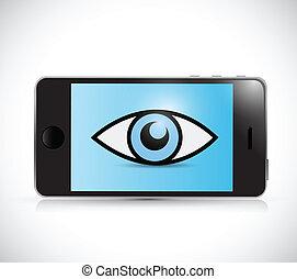 phone surveillance illustration design
