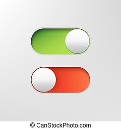 Phone switch icon. On off toggle for design applications. Phone vector slider bar.