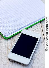 phone;, tablette, beweglich, diary;, pc, tisch