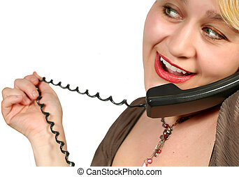phone talk - chatting on the phone