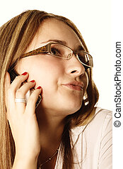 Phone talking woman
