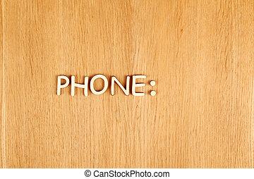 Phone. Text