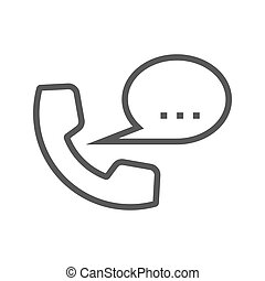 Phone Thin Line Vector Icon.