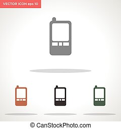 phone vector icon isolated on white background