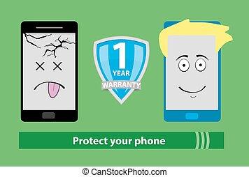 phone warranty icon
