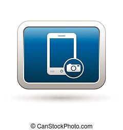 Phone with camera menu icon