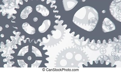 phone with gears animation for use in presentations,...