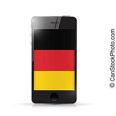 phone with GERMANY flag illustration design