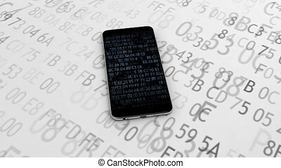 Phone with software code. Encryption. Encrypted phone secure...