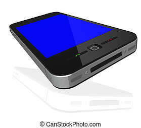 Phone with touch screen