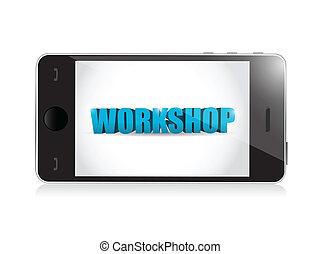 phone. workshop illustration design