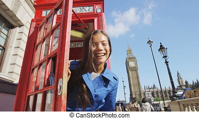 phonebooth, angleterre, onduler, heureux, londres, rouges, ...