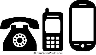 Phones evolution, vector illustration