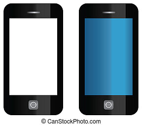 Phones - vector phones isolated on white
