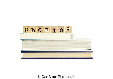 phonics word on wood stamps and books - phonics word on wood...
