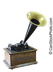 Phonograph of Thomas Edison, beginning of the 20th century, USA.