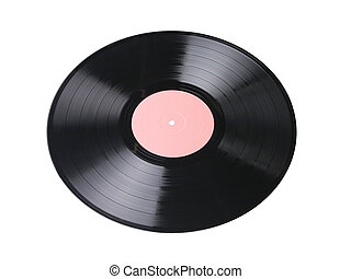 phonograph record - vinyl record with pale pink label...