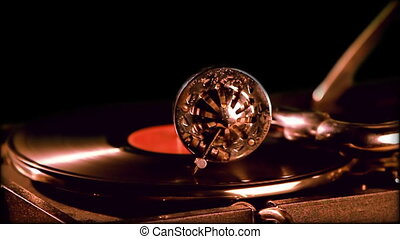 Retro portable phonograph