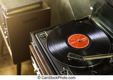 "phonograph - Vintage portable record player ""Phonograph""..."