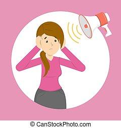 Phonophobia as a symptom of a migraine