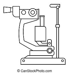 Phoropter, ophthalmic testing device machine icon