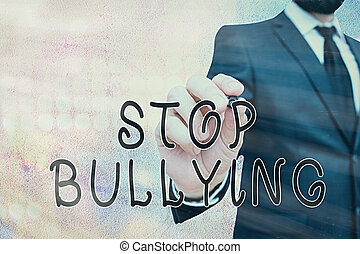 photo, éliminer, agressif, stop, unacceptable, behavior., ...