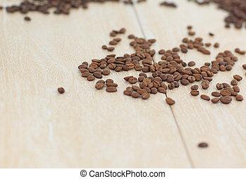 .photo, コーヒー, スペース, ライト, 木穀粒, 背景, 黒, コピー