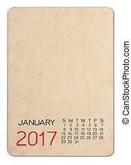 Photo,  2017, vieux, calendrier, vide