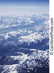 photo aérienne, alpes