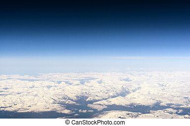 photo aérienne, de, islande