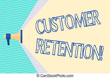 photo, actions, beam., capacité, écriture, prendre, texte, conceptuel, travers, activités, clients, business, projection, main, volume, étendre, client, large, porte voix, retention., sociétés, gamme, retenir, ou