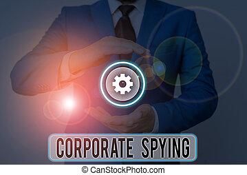 photo, advantage., projection, constitué, texte, signe, spying., gain, conceptuel, concurrents, business, investigation