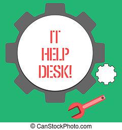 photo, aide, technology., texte, projection, il, signe, portion, desk., ligne, conceptuel, soutien, assistance