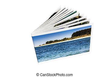Photo album on a white background.