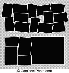 Photo album on transparent background. Vector design template