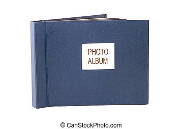 Photo album isolated over white .