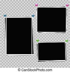 Photo album set of photo frames with white border on...