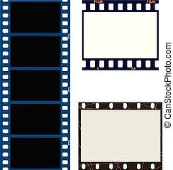 photo and movie film frames