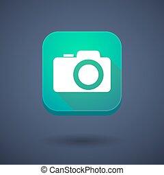 photo, app, appareil photo, bouton