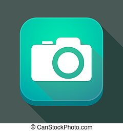photo, app, long, appareil photo, ombre, icône