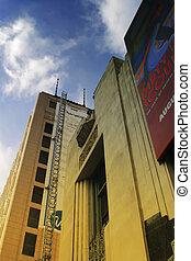 photo, bâtiments, couleurs, panneaux affichage, clair