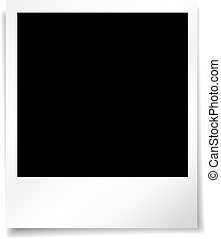 Photo background - Blank photo background with a drop shadow