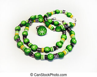 Photo beads multicolor hand made