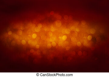 beautiful orange bokeh