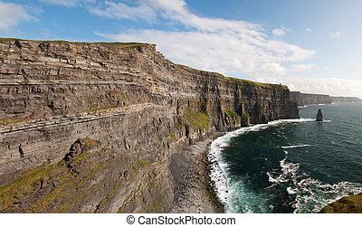 beautiful scenic landscape from the west coast ireland